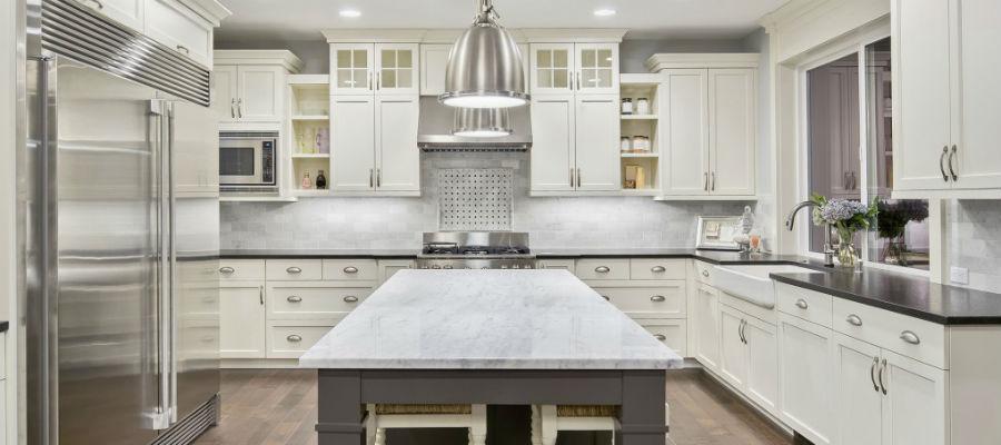 Modern kitchen remodeling job complete photo