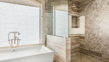 Bathroom remodeling can produce luxury bathrooms like this one.